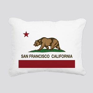 california flag san francisco Rectangular Canvas P