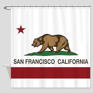 California Flag San Francisco Shower Curtain