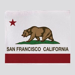 california flag san francisco Throw Blanket