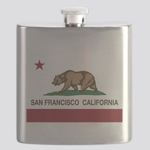 california flag san francisco Flask
