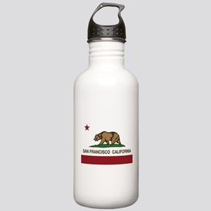 california flag san francisco Water Bottle