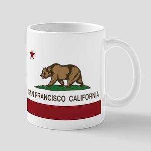 california flag san francisco Mugs