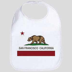 california flag san francisco Bib