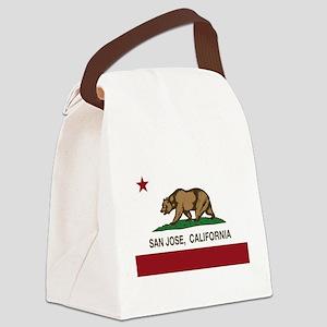 california flag san jose Canvas Lunch Bag