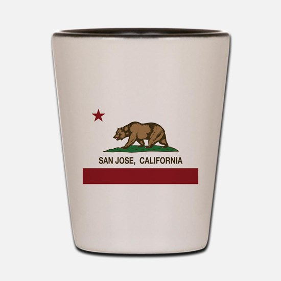 california flag san jose Shot Glass