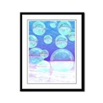 Frosty Clarity Abstract Framed Panel Print