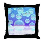 Frosty Clarity Abstract Throw Pillow