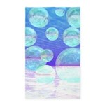 Frosty Clarity Abstract 3'x5' Area Rug