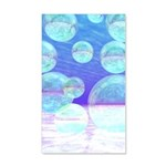 Frosty Clarity Abstract 20x12 Wall Decal