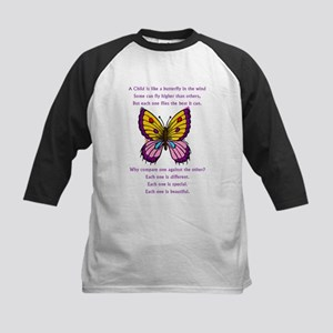 A Child Is Like a Butterfly-  Kids Baseball Jersey