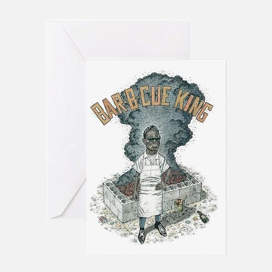 BBQ King Trans Bg Edges Fixed Greeting Card