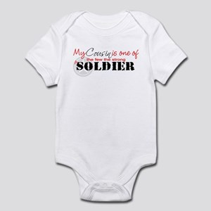 My Cousin is one of the few t Infant Bodysuit