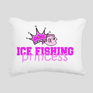 ice fishing princess Rectangular Canvas Pillow