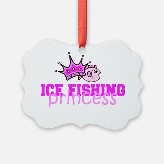 ice fishing princess Ornament