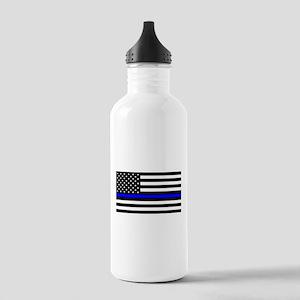 Blue Lives Matter Flag Stainless Water Bottle 1.0L