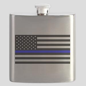 Blue Lives Matter Flag Flask