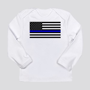 Blue Lives Matter Flag Long Sleeve Infant T-Shirt