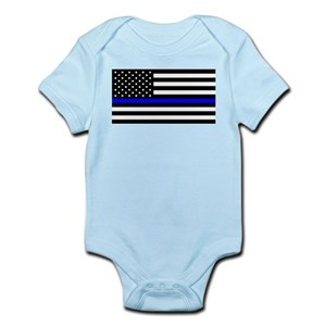 44611182ec8 Thin Blue Line Baby Clothes   Accessories - CafePress