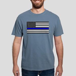 Blue Lives Matter Flag Mens Comfort Colors Shirt