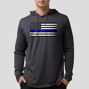 Blue Lives Matter Flag Mens Hooded Shirt