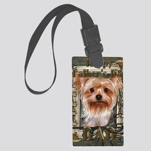 Stone_Paws_Yorkshire_Terrier_Dad Large Luggage Tag