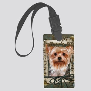 Stone_Paws_Yorkshire_Terrier Large Luggage Tag