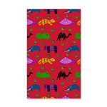 Animals Purple Turtles Blue Elephant 35x21 Wall De