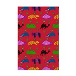 Animals Purple Turtles Blue Elephant Mini Poster P
