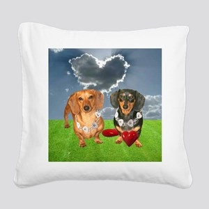 tig lil hearts clouds16x16 co Square Canvas Pillow