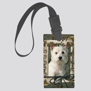 Stone_Paws_West_Highland_Terrier Large Luggage Tag