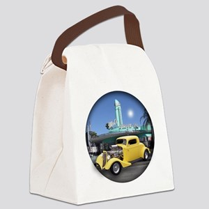 YELLOW COUPE BUTTON Canvas Lunch Bag