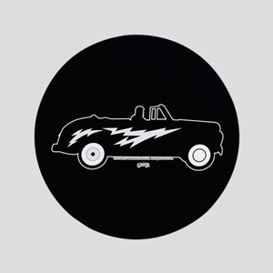 """Grease Lightning Car 3.5"""" Button"""