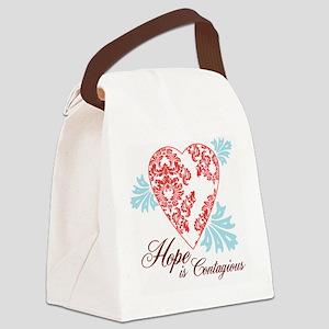 hope contageous copy Canvas Lunch Bag