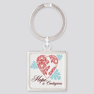 hope contageous copy Square Keychain