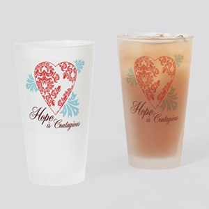 hope contageous copy Drinking Glass