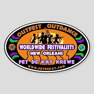 Survivor Jazz Fest Oval Sticker