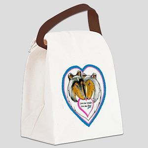 Love Me Blue Canvas Lunch Bag
