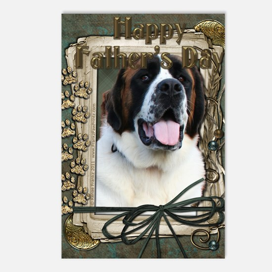 Stone_Paws_St_Bernard_Mae Postcards (Package of 8)