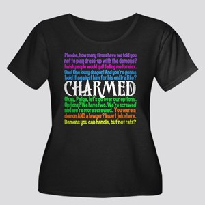 Charmed Quotes Women's Plus Size Scoop Neck Dark T