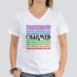 Charmed Quotes Women's V-Neck T-Shirt