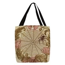 Spider Flower Wreath Polyester Tote Bag