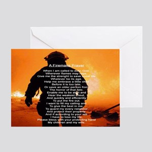 FIREMANS PRAYER Greeting Card