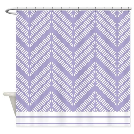 Chevron Lavender Lacy Pattern Shower Curtain by ... - photo#27