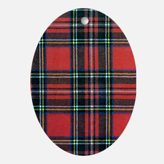 Royal Stewart Tartan Ornament (Oval)