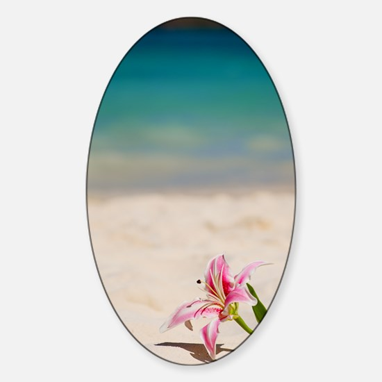 Beach Lily Sticker (Oval)