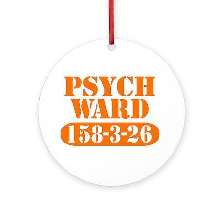 Psych Ward - Orange Ornament (Round)