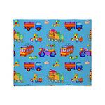 Toys Trucks & Trains Throw Blanket