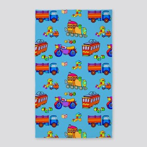 Toys Trucks & Trains 3'x5' Area Rug
