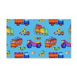 Toys Trucks & Trains 20x12 Wall Decal