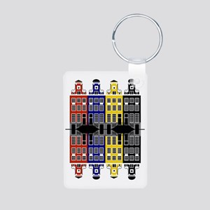 Amsterdam Architecture - M Aluminum Photo Keychain